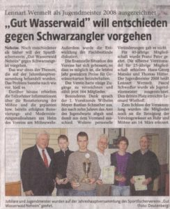 Jahreshauptversammlung - 06.03.2009 Westfaelische Rundschau_488x600