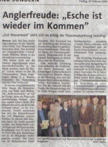 Jahreshauptversammlung - 29.02.2008 Westfalenpost_439x600